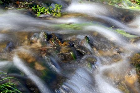 Rapid water flow in the brook