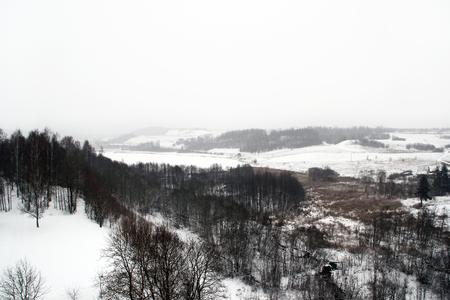 countryside landscape: Winter countryside landscape Stock Photo