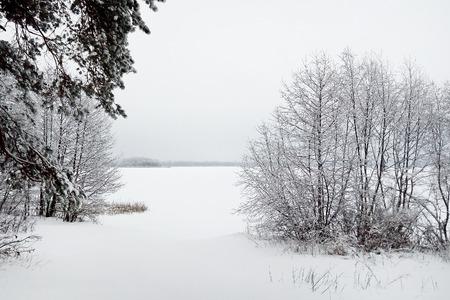 countryside landscape: Countryside winter landscape