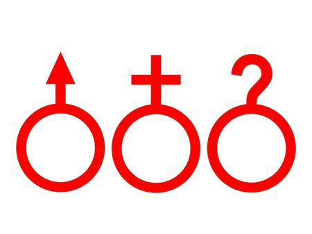 性別: 男性、女性、あいまいな 写真素材