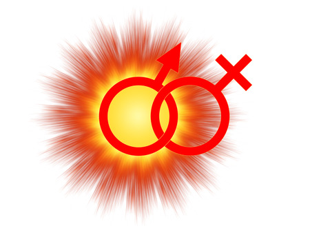 Symbolic image of the male orgasm 版權商用圖片