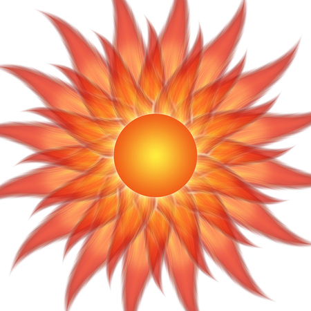 sun energy: Symbol of the sun on a white background