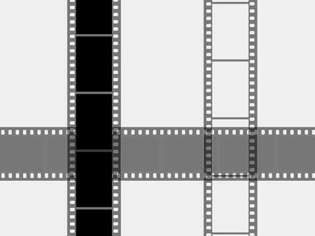 Photographic films on a white background Stock Photo