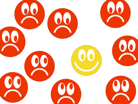 Symbolic image of the good mood Stock Photo