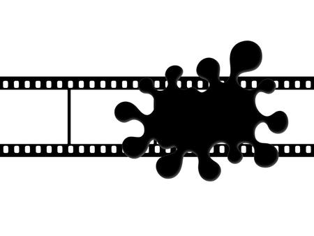 censure: Black blob on the film frame