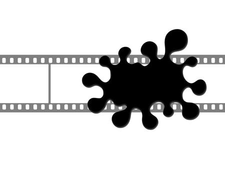 Black blob on the film frame