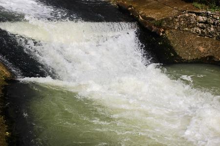 Water flow in the channel Stok Fotoğraf