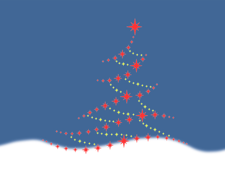 Symbolic image of the Christmas tree Archivio Fotografico
