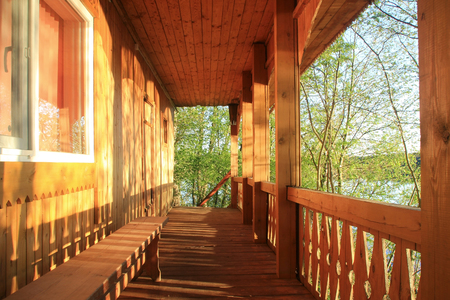 Veranda of the wooden village house