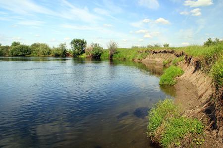 bank of the river Stok Fotoğraf