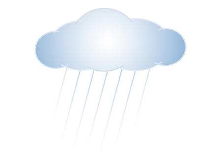 Symbolic image of a cloud and rain Stok Fotoğraf