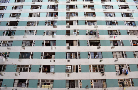 The crowded apartment in Hongkong.