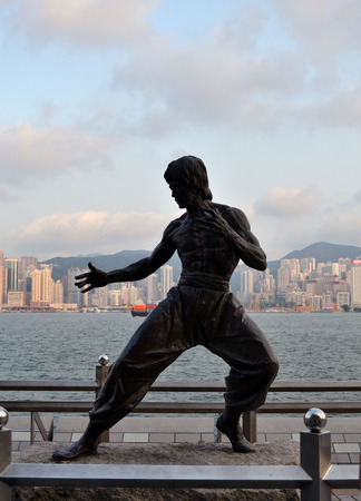 Bruce Lee Statue at the Avenue of Stars, Hong Kong Editorial