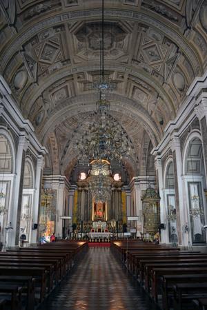 Inside the Church in Intramuros, Manila, Philippines. Editorial