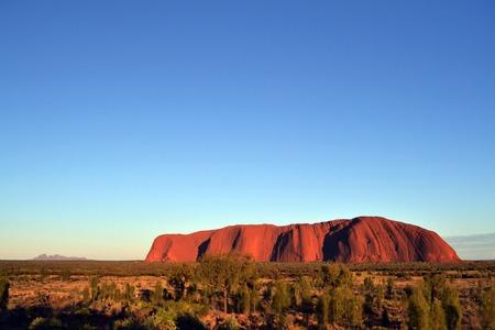 olgas: Uluru with Kata Tjuta (far-away back there), Australia