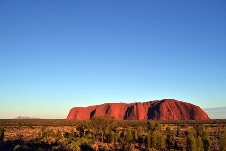 Uluru with Kata Tjuta (far-away back there), Australia