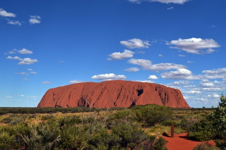 Closer to The Uluru (Uluru-Kata Tjuta National Park), Red Centre, Australia Stock Photo