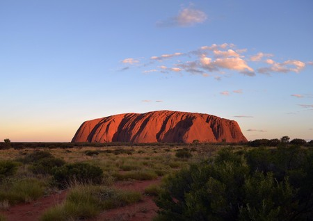 The sunset in Uluru (Uluru-Kata Tjuta National Park), Australia