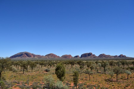 Kata Tjuta (Uluru-Kata Tjuta National Park), captured from a far-away spot.
