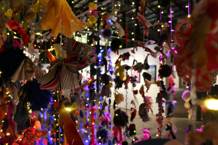 Lights and Ribbons at one art exhibition in Cairns, Australia
