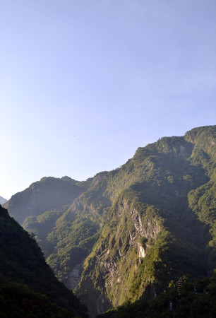 Hsiang-Te Temple in the middle of Taroko National Park in Taiwan. The town is called Tianxiang, and could be one best alternative (instead of Hua Lien, which is a bigger city) for those who want to sleep while surrounded by mountains.