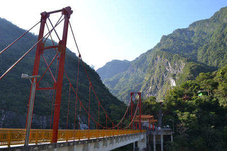 faraway: The red bridge that connects Hsiang-Te temple to the main road