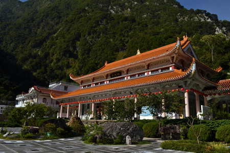 Hsiang-Te Temple in the middle of Taroko National Park in Taiwan. The town is called Tianxiang, and could be one best