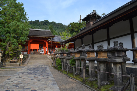 The place is called Kasuga-Taisha. A Japanese shrine in Nara, Japan. Picture was taken in August 2017. Editorial