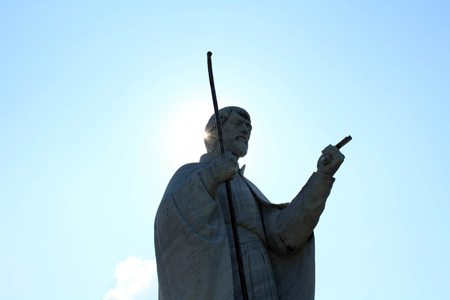 Closer to the public statue of Francis Xavier in Yamaguchi, Japan. Considered as the first missionary for Japan. Pic was taken in August 2017