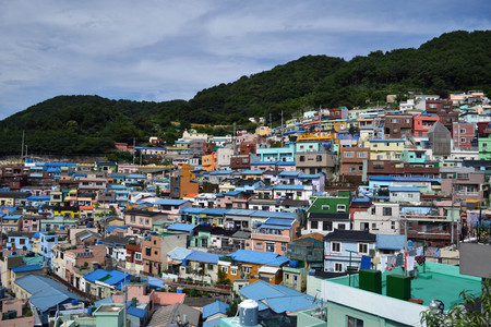 A colorful village in Busan, Korea. Pic was taken in August 2017