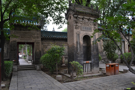 The view around Xian Great Mosque, considered as one of the most important place for Chinese Muslims in China. Pic was taken in September 2017. Translation: XiAn Mosque Editorial