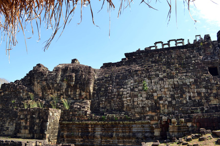If you can see, this side of the temple depics reclining Buddha. Pic was taken in Angkor Wat, Siem Reap, January 2015.