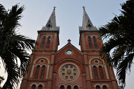 Notre Dame Cathedral in Saigon (Ho Chi Minh City), Vietnam. Pic was taken in January 2015.
