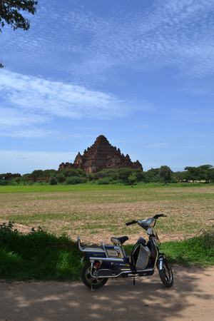 The temples that scattered around Bagan Archaeological Zone, Myanmar. Its a UNESCO world heritage. Pic was taken in August 2015.