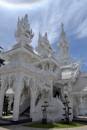 Closer to White Temple. Probably one of the most iconic temples in Thailand. Pic was taken in Chiang Rai, August 2015.