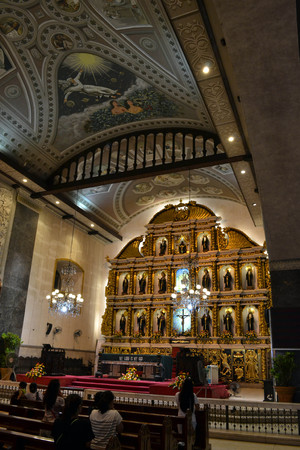 The pilgrims at Santo Nino Church in Cebu, Philippines. The place is full of people who pray. Pic was taken in September 2015.