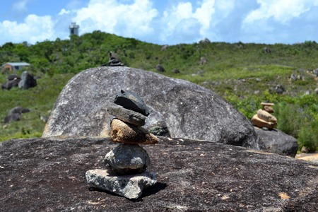 Rock balancing around Fitzroy Island, Queensland, Australia. A form of meditation practice. Pic was taken in February 2017.