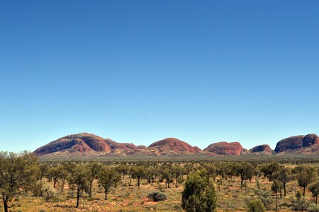 Closer walk to Uluru and Kata Tjuta in Central Australia. Pic was taken in November 2016. Stock Photo