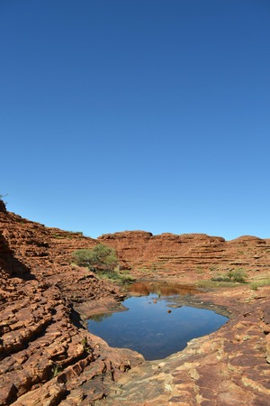 Hiking around Kings Canyon, around 2 hours by car from Uluru. Pic was taken in November 2016.