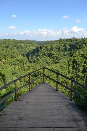 The wonderful view of Karangasem Regency (taken from Banjar Atugan) in Bali, Indonesia. Pic was taken in June 2017. Stock Photo