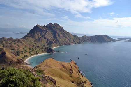 The stunning view of Padar Island in Indonesia, not far from Komodo Island. Pic was taken in June 2017 Stock Photo