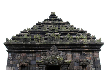 Jogjakarta in Indonesia has dozens temples (beside the popular Borobudur and Prambanan). This one is Candi Ijo Temple. Pic was taken in November, 2017. Stock Photo
