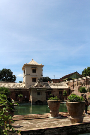 Taman Sari Water Castle in Yogyakarta, Indonesia. Its used as a bathing complex. Pic was taken in November 2017. Editorial