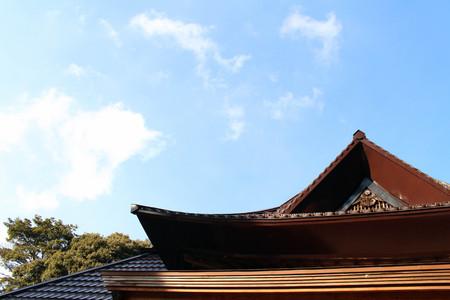 The Shinto Shrine, Naganohachimangu, in Yamaguchi, Japan. Stock Photo