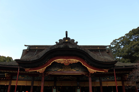 The details of architecture of Dazaifu Tenmangu, in Fukuoka, Japan.
