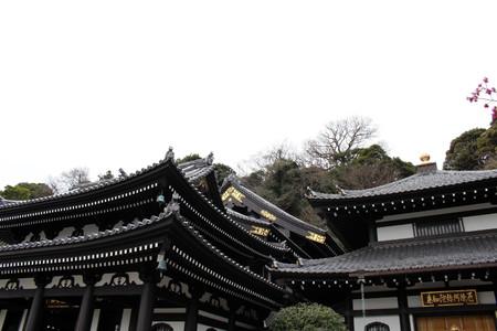 Translation: Hase-dera or Hase-Kannon Buddhist Temple in Kamakura. Taken in Kanagawa, Japan - February 2018. Standard-Bild - 98937757