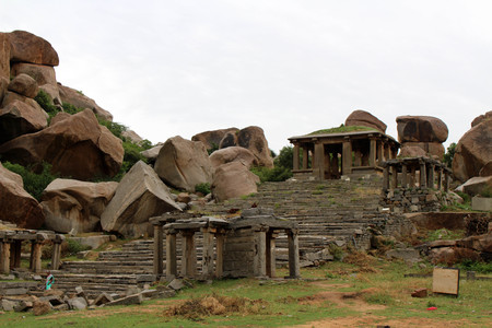 A temple on the foothill of Matanga Hill. Theres another temple on top of it. Taken in Hampi, India, August 2018. Editöryel