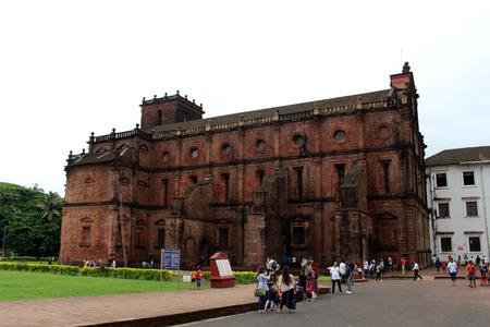 The Basilica of Bom Jesus of Old Goa (Goa Velha), housing the body of Francis Xavier. Taken in India, August 2018