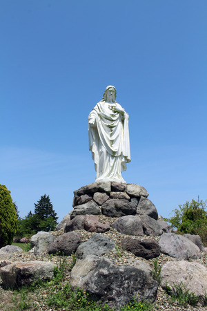 The statue of Jesus at Monastery of Our Lady of the Annunciation in Japan. Taken in Oita, April 2018