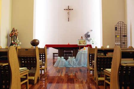 A Catholic chapel at a Salesian Nunnery in Beppu, Japan. Taken in June 2019.